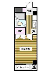 東京都板橋区若木3丁目の賃貸マンションの間取り