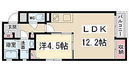 兵庫県伊丹市安堂寺町1丁目の賃貸アパートの間取り