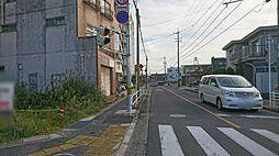 前の道路です。