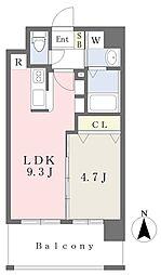 ランドマーク原 1階1LDKの間取り