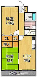 トカシキマンション[2階]の間取り