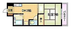 京阪本線 野江駅 徒歩5分の賃貸マンション 7階1DKの間取り