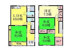 [一戸建] 兵庫県神戸市灘区八幡町1丁目 の賃貸【/】の間取り