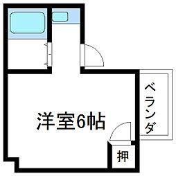 ワークスマンション[2E号室]の間取り