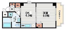 シャトードルチェ2[5階]の間取り