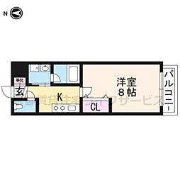 A-mon太秦天神川[402号室]の間取り