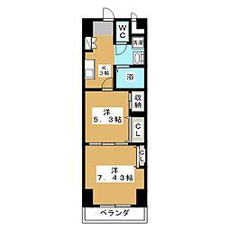 プレステージ宇都宮[14階]の間取り