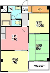 サンロイヤルマンション[2階]の間取り