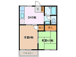 三重県四日市市ときわ3丁目の賃貸マンションの間取り