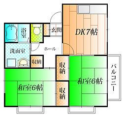 エスタシオンU[2階]の間取り