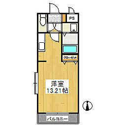 プレアール東合川[3階]の間取り