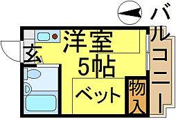 第8スターコーポ[203号室]の間取り