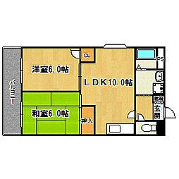 第2山田ハイツ[403号室]の間取り