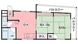 中西マンション[3階]の間取り