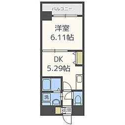 大阪府大阪市西区九条1丁目の賃貸マンションの間取り