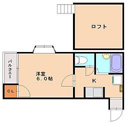 TOMATE CLUB[2階]の間取り