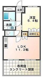 LION Hikari[107号室]の間取り