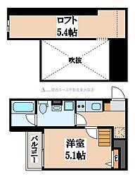 Valenti小阪[2階]の間取り