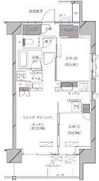 JR山手線 田町駅 徒歩11分の賃貸マンション 11階2LDKの間取り