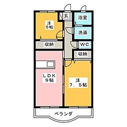 プリーマ[1階]の間取り