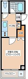 三浦マンション[2階]の間取り