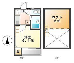 シュノンソー名古屋[1階]の間取り