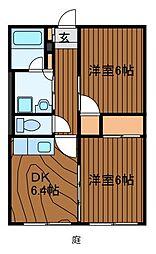 サンホワイトM[2階]の間取り