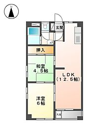 コ−ポ鈴木[3階]の間取り