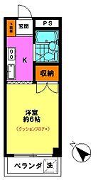 メゾンイケヤ(2F)[2階]の間取り