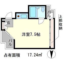 デトムワン京大前[3階]の間取り