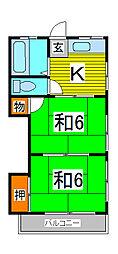 伸三荘[2階]の間取り