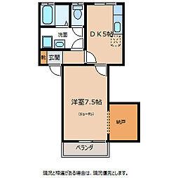 下田ハイツ北方第3[1階]の間取り