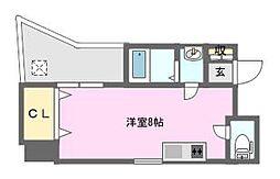 HERMITAGE難波南II[8階]の間取り