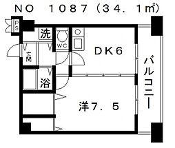エストメゾン夕陽ヶ丘[3階]の間取り