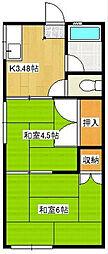 島村アパート[102号室]の間取り