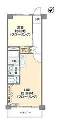 京王井の頭線 神泉駅 徒歩6分の賃貸マンション 5階1LDKの間取り