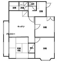ハイツ島田[202号室]の外観