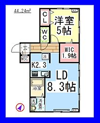 AF ブルーミントハウス[旭化成ヘーベルメゾン][1階]の間取り