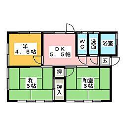 [一戸建] 三重県松阪市荒木町 の賃貸【/】の間取り