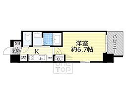 Osaka Metro御堂筋線 西中島南方駅 徒歩8分の賃貸マンション 11階1Kの間取り