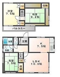 [一戸建] 千葉県市原市青葉台2丁目 の賃貸【/】の間取り