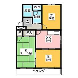 オズハウス5[3階]の間取り