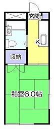 エミュー東村山[2階]の間取り