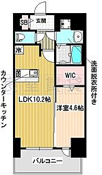 名古屋市営東山線 新栄町駅 徒歩2分の賃貸マンション 6階1LDKの間取り