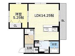 阪急神戸本線 王子公園駅 徒歩9分の賃貸アパート 1階1LDKの間取り