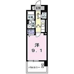 グランデ新宿[703号室]の間取り