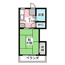 コーポ篠[2階]の間取り