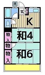 綾建荘[205号室]の間取り
