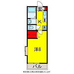 PALACE HAYASHI[2階]の間取り