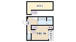 愛知県名古屋市南区駈上2丁目の賃貸アパートの間取り